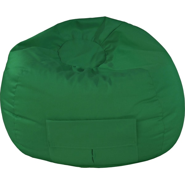Gold Medal Extra Large Dark Green Denim Look Bean Bag