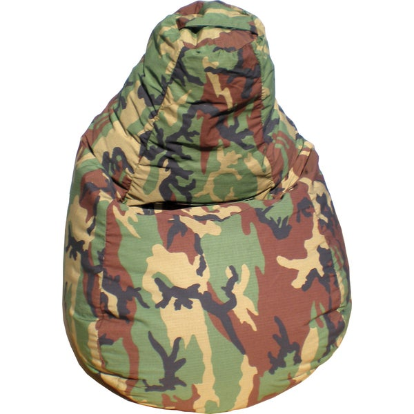 Gold Medal Large Camouflage Tear Drop Demin Look Bean Bag