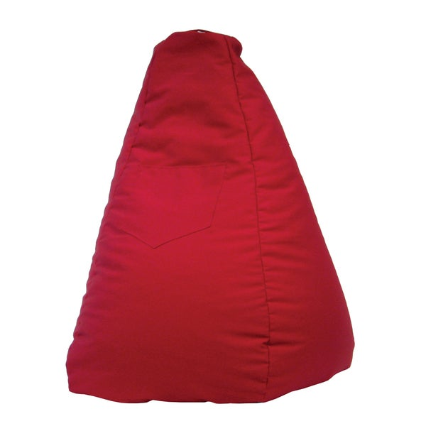 Gold Medal Large Red Tear Drop Bean Bag