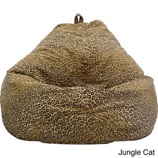 Gold Medal Large Safari Microfiber Teardrop Bean Bag