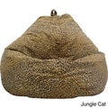 Hudson Industries Large Safari Microfiber Teardrop Bean Bag