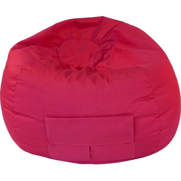Gold Medal Cargo Pocket Red Denim Look Medium/ Tween Bean Bag
