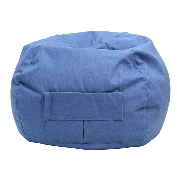 Gold Medal Cargo Pocket Blue Denim Look Extra Large Bean Bag