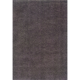 Grey/ Purple Shag Area Rug