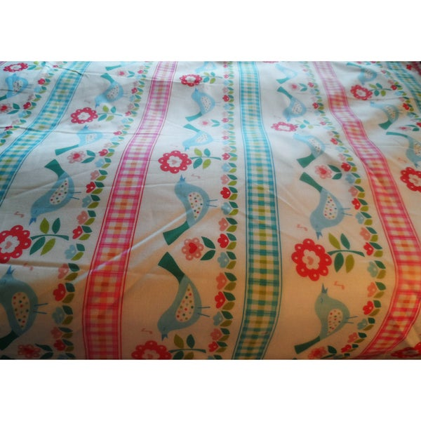 Flowers and Birds Crib/Toddler Bed Fitted Sheet