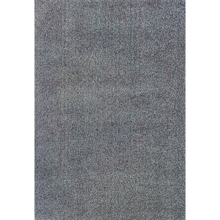 Beige/ Purple Shag Area Rug