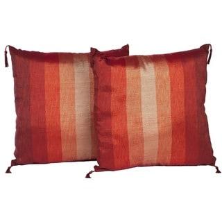 Set of Two Sunset Stripe Throw Pillows (Morocco)