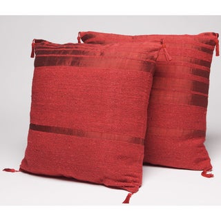 Set of Two Red Throw Pillows (Morocco)