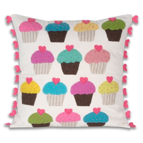 Marlo Lorenz Luv Many Muffins 16-inch Decorative Pillow
