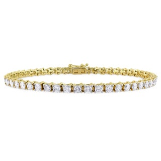 Miadora 14k Yellow Gold 5ct TDW Diamond Bracelet (G-H, I1-I2)