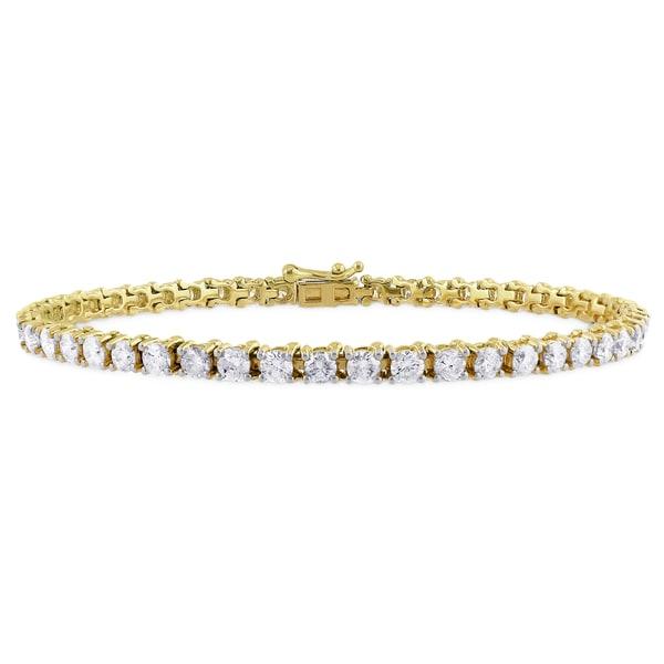 Miadora 14k Yellow Gold 5ct TDW Diamond Bracelet (G-H, I1-I2)