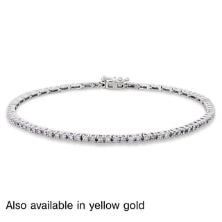 Miadora 14k White or Yellow Gold 1ct TDW Diamond Bracelet (G-H, I1-I2)