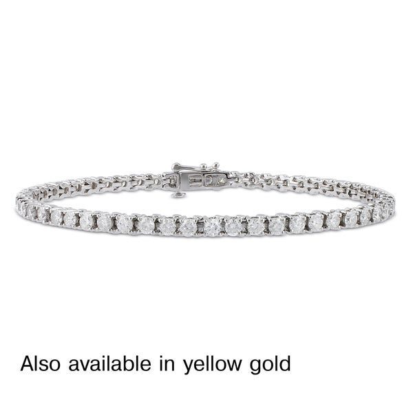 14k White or Yellow Gold 4ct TDW Diamond Tennis Bracelet (G-H, I1-I2)
