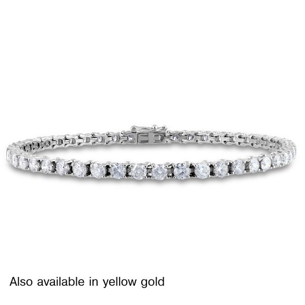 Miadora Signature Collection 14k Gold 6ct TDW Diamond Bracelet (G-H, I1-I2)