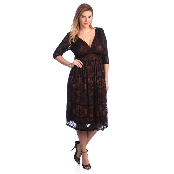 Kiyonna Women's Plus 'Tiers Of Joy' Lace Dress