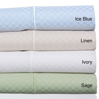 Grandeur Dobby Checks Sateen Weave 800-thread Count Sheet Set (6 Piece Set)