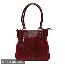 Kozmic Snake-embossed Leather Handbag