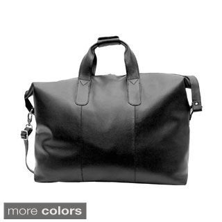 Kozmic Cognac NDM 24-inch Leather Travel Duffle Bag