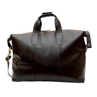 Kozmic Cognac NDM Leather Travel Duffle Bag