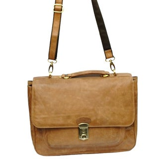 Kozmic Buff Goti Leather Laptop Messenger Bag