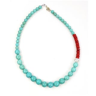Pretty Little Style Turquoise Rhinestone Necklace
