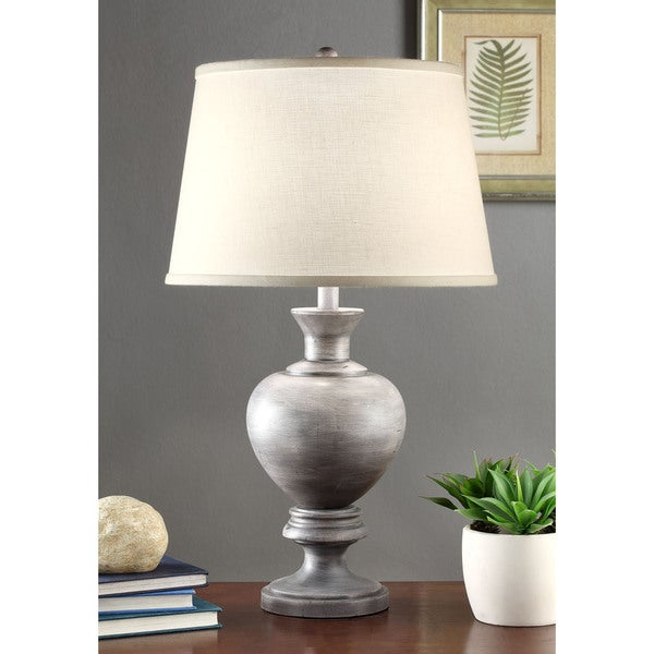 Charcoal Finish 27-inch Table Lamp
