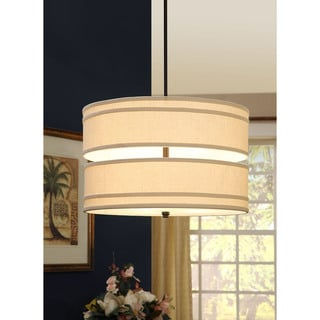 Double Decker Cream Shade Chandelier