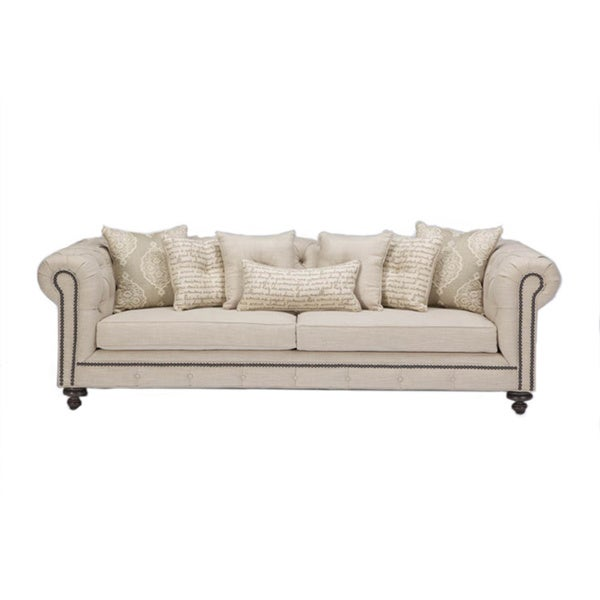 JAR Designs 'Alphonse Tufted' Barley Sofa