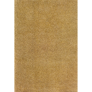 Indoor Ivory/Gold Shag Area Rug