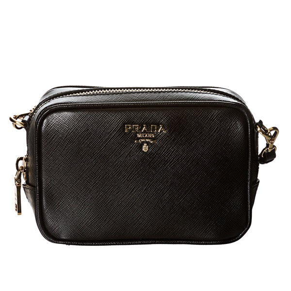 replica prada handbag - Prada Mini Black Saffiano Leather Cross-body Bag - 14866530 ...