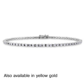 Miadora 14k White or Yellow Gold 2ct TDW Diamond Bracelet (G-H, I1-I2)