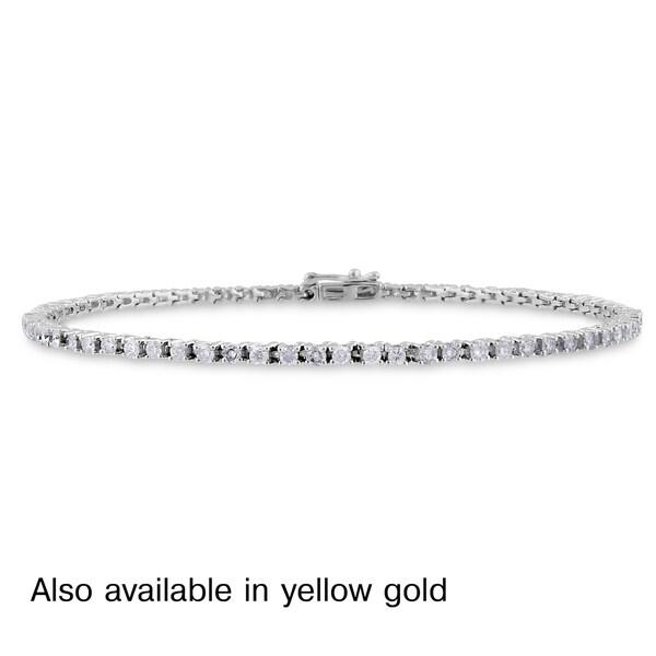 Miadora 14k White or Yellow Gold 2ct TDW Diamond Bracelet (G-H, I1-I2)