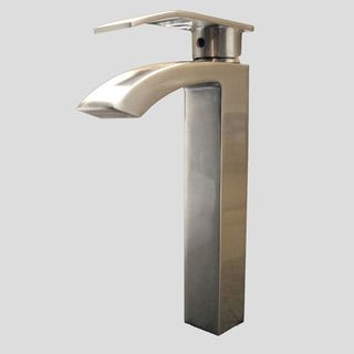 Kokols Single Lever Brushed Nickel Vessel Faucet