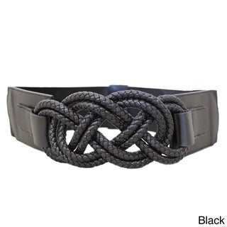 Women's Braided Knots Stretch Designer Belt