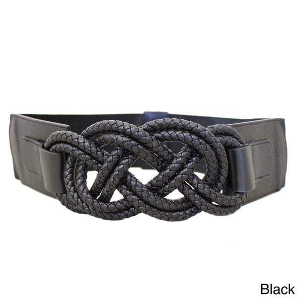 Women's Braided Knots Stretch Designer Belt