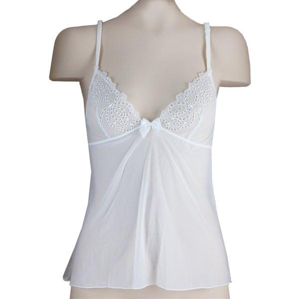 Affinitas Women's 'Linda' White Camisole