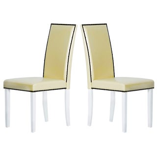 Warehouse of Tiffany Blazing Cream Dining Chairs (Set of 2)