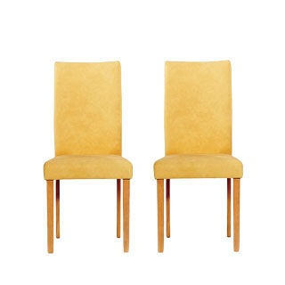 Warehouse of Tiffany Shino Mustard Faux Leather Chairs (Set of 2)