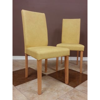 Warehouse of Tiffany Shino Mustard Faux Leather Chairs (Set of 4)