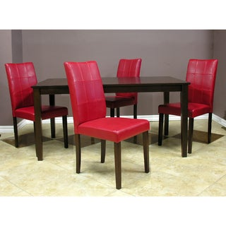 Warehouse of Tiffany Evellen Red Dining Set (Set of 5)