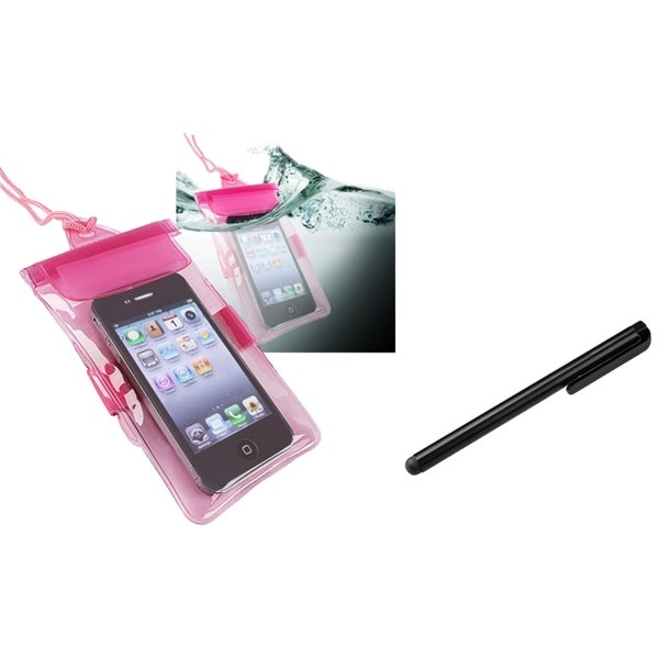 INSTEN Waterproof Bag/ Stylus for HTC EVO 3D/ Amaze/ Rezound/ Titan