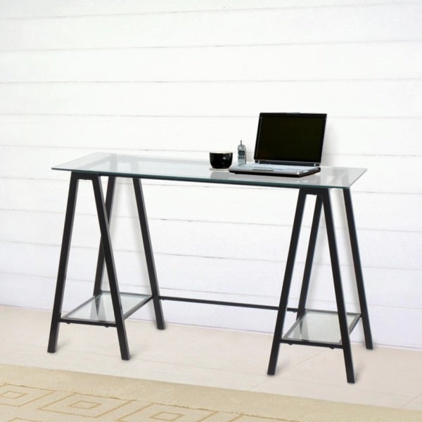 Pilot Tempered Glass Desk