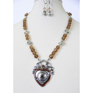 'Topaz Regency' Necklace and Earring Set