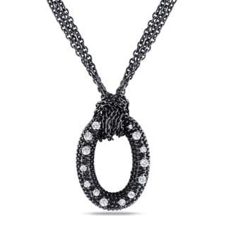 Miadora Sterling Silver 1/6ct TDW Diamond Necklace (G-H, I1-I2)