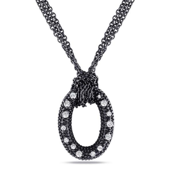 Miadora Sterling Silver 1/6ct TDW Diamond Necklace (G-H, I1-I2)