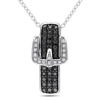 Miadora Sterling Silver Diamond Buckle Necklace (H-I, I2-I3)