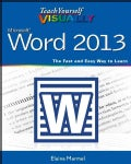 Teach Yourself Visually Word 2013 (Paperback)