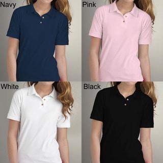 Los Angeles Pop Art Women's Pique Cotton Polo Shirt