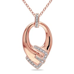 Miadora Rose-plated Silver Diamond Necklace (H-I, I2-I3)