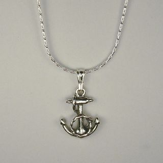 Jewelry by Dawn Sterling Silver Fancy Anchor Cable Chain Necklace